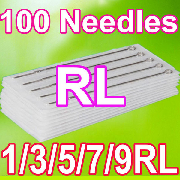 top popular PRO 100 PACK ROUND LINER 1 3 5 7 9RL ASSORTED STERILE TATTOO NEEDLES DISPOSABLE 2020