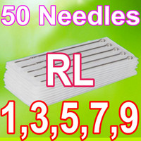 Wholesale Disposable Needles 7rl - Drop Shipping 50PCS PACK 1RL 3RL 5RL 7RL 9RL ASSORTED STERILE TATTOO NEEDLES DISPOSABLE SUPPLY