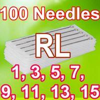 Wholesale Tattoo Needles 15rl - 100PCS PACK TATTOO NEEDLES 1RL 3RL 5RL 7RL 9RL 11RL 13RL 15RL ROUND LINER TATTOO NEEDLES SUPPLY