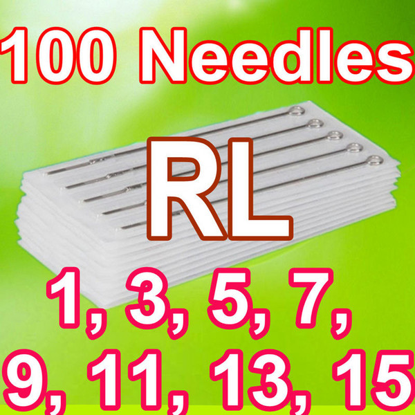 100PCS PACK TATTOO NEEDLES 1RL 3RL 5RL 7RL 9RL 11RL 13RL 15RL ROUND LINER TATTOO NEEDLES SUPPLY