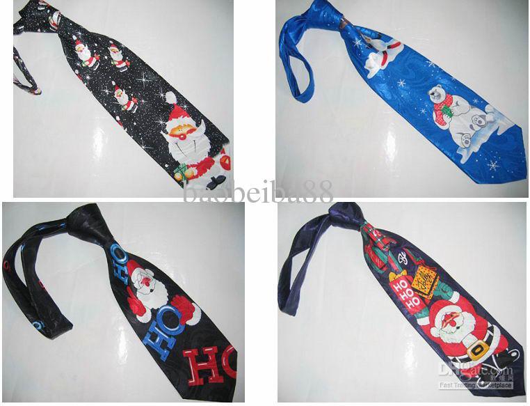 Batch mixing Santa Claus Series Christmas tie Tie ties