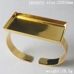 Wholesale Nickel Safe - Bracelet, Brass,pad:25X50mm,ID19375,Nickel-Free,Lead-Safe