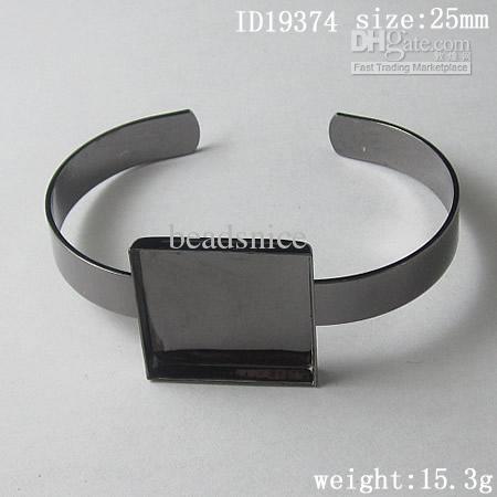 Braccialetto, ottone, pad: 25mm, ID19374, nichel-free, piombo-sicuro