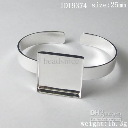 팔찌, 황동, 패드 : 25mm, ID19374, Ni-Free, Lead-Safe