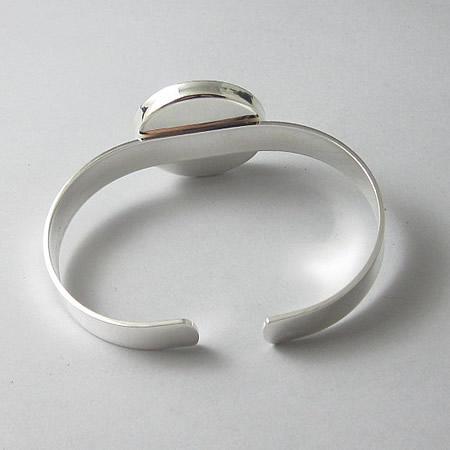 Jewelry Brass Bracelet Base Diameter 25x25mm Lead Safe Nickel Free customed gift sold by PC ID19382