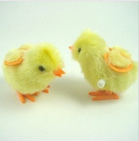 free shipping Spring chicken Wind- up Toy chicks will go cloc...
