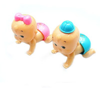 Wholesale Plastic Ass Toy - free shipping Baby toys, baby climbing toys, clockwork toys, twisted ass baby will crawl