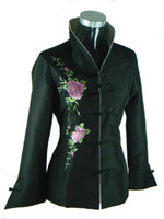 pacific asia - Traditional Chinese Women s Silk satin Evening wear Dress coat jacket vest SAaDF