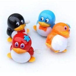 Wholesale Metal Clockwork - Clockwork Penguin QQ without the battery unscrew spring run creative children toy