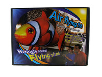 flying radio control shark achat en gros de-Meilleur Air Swimmer 3CH Radio contrôlée Flying Shark Clownfish Flying Nager Jouet de poissons Freeshipping