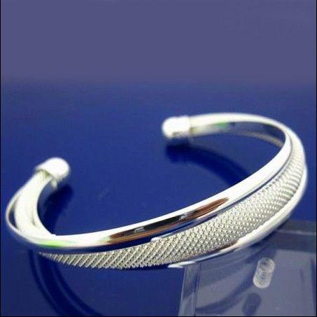100% new high quality 925 silver charm bangles fashion bracelet free shipping 10pcs/lot