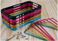Wholesale Aluminum Case 4g - Blade Bumper Case,Aluminum Bumper Frame Blade Case Cover Use For iPhone 4 4G 5pcs lot