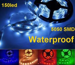 Canada 50m haute qualité 5050 SMD LED bande de lumière flexible blanc froid 150led 5m (30LED / M) étanche (IP65) Offre