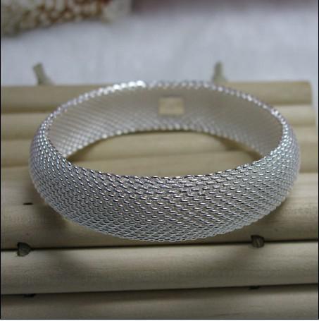 Горячий новый стерлингового серебра 925 мода браслет закрытая сеть девушка ювелирные изделия бесплатная доставка 10 шт./лот