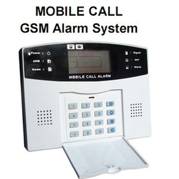 Wholesale Gsm Alarm System Wired - mobile call GSM Alarm System 7 wired and 99 wireless defense zones LCD screen