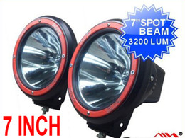 "Wholesale Super 4x4 Hid Lights - 2 x 7"" 12V 55W SUPER BRIGHT HID XENON 9-32V SUV DRIVING SPOT OFFROAD LIGHT 4WD 4X4 BUILT IN BALLASTS"