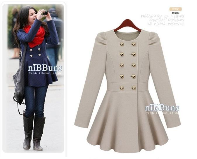 Winter Woman Coat Double Breasted Overcoat Women Thicken Skintight ...