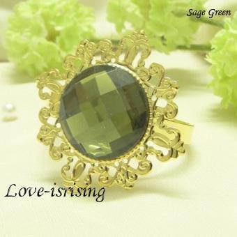 БЕСПЛАТНО DHL shipping-100pcs высокое качество, прозрачный драгоценный камень позолоченные кольца для салфеток свадебные сувениры-новые поступления