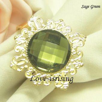 Бесплатная доставка DHL-100 шт. высокое качество,черный драгоценный камень позолоченные кольца для салфеток свадебные сувениры-новые поступления