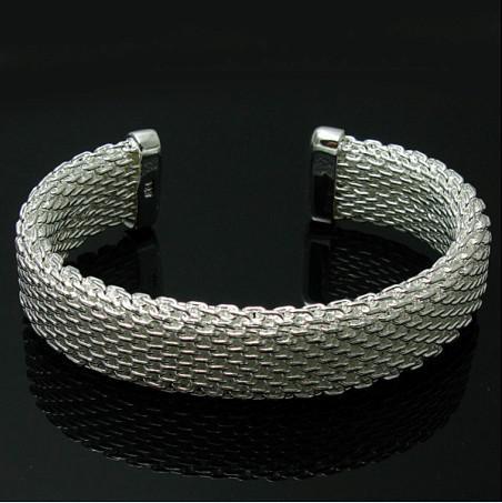 뜨거운 새로운 패션 925 스털링 실버 메쉬 팔찌 매력 보석 선물 무료 배송 10piece