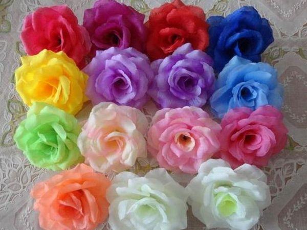 300pcs 8cm Silk Artificial Flowers Peony Rose Flower Head Camellia Wedding Christmas Home Decora Mix Color Order