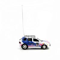 nuevos coches rc llegada al por mayor-Nueva Llegada Control de Juguete de Coque Can Mini RC Radio Control Remoto Micro Racing Car Azul de alta calidad 10 unids