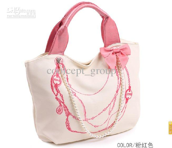 Brand New Lady Fashhion Handbag With Flower And Rosary Shoulder ...