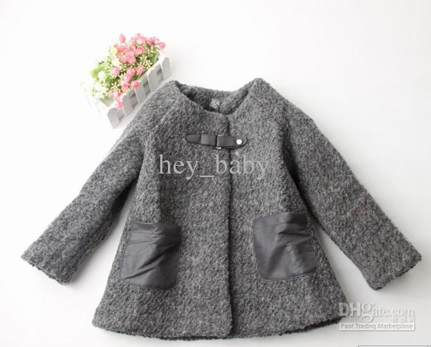 Za** Baby Coat Outwear Kids Coats Girls Outer Wear Solid Overcoat ...