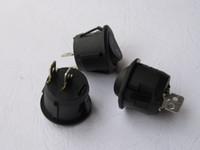 Wholesale Rocker Toggle Switch - Rocker Switch KCD1 Circular Black 2pin 6A 250V 10A 125V 80 pcs per Lot