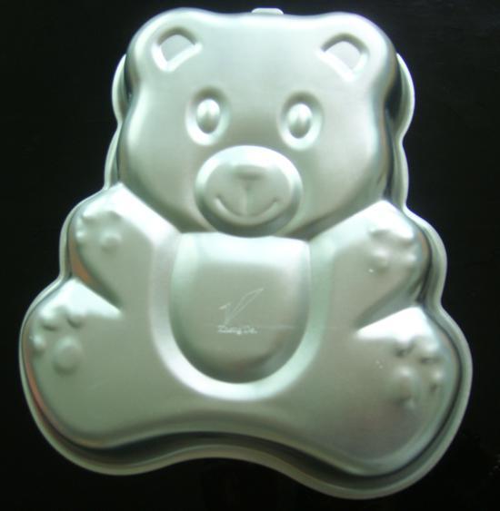 ホット3D大きなベアケーキパンベーキングモールド誕生日パーティークッキーモールドアルミニウム飾るモデリングツール