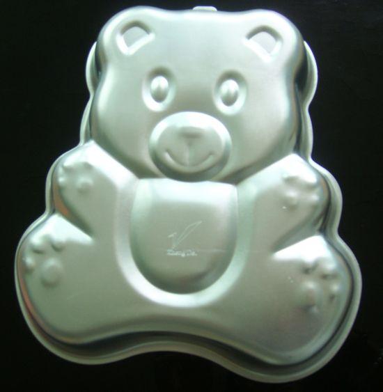 Hot 3D Big Bear Cake Pan stampo di cottura compleanno Party Cookie Mold alluminio che decora strumento di modellazione