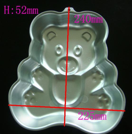 뜨거운 3D 큰 곰 케이크 팬 Baking 금형 생일 파티 쿠키 금형 알루미늄 장식 모델링 도구
