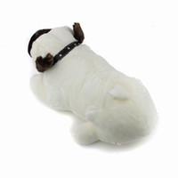 bulldog oyuncakları toptan satış-2017 Yeni Yüksek kalite Güzel Peluş Dolması Yumuşak Bulldog Bebek Oyuncak Hayvan Pet Köpek Oyuncak Mix Sipariş 1 adet