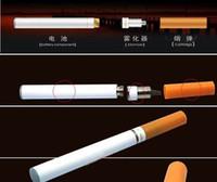 cigarrillos electrónicos de salud al por mayor-Doble color amarillo blanco del cigarrillo electrónico del E-cigarrillo de la salud V9 con la caja al por menor, cargador USB