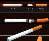 Wholesale Electronic Cigarettes Double V9 - Double V9 health E-Cigarette Electronic Cigarette white & yellow color with retail box,USB charger