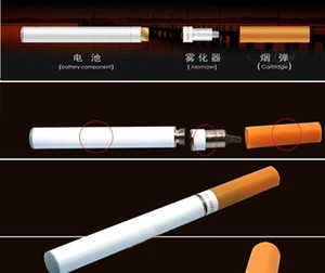 Double V9 health E-Cigarette Electronic Cigarette white & yellow color with retail box,USB charger