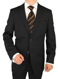 Wholesale Mens Wool Brown Suit - 2015 New Style Wool Suit Modern Fit Mens Suit Jacket &Pants Business Suit Black Stripe Accept