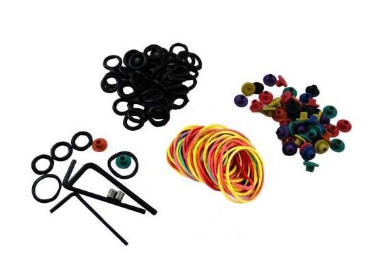 Super Tattoo Kit MIN Power Supply & Rotary Tattoo Motor Gun 7 Inks Needles Grips Tips Supply