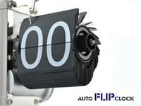 Wholesale Retro Flip Down Clock Internal - Retro Flip Down Clock Internal Gear Operated Classical Stylehigh quality 1pcs