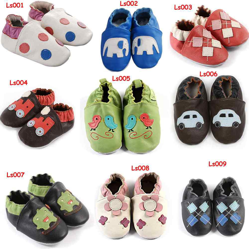 03e019ae4f2f 2019 Soft Sole Leather Baby Walking Shoes Zoo Slippers Crib Car Boys Shoes  Girls Walking ShoesGirls Shoes From Melee