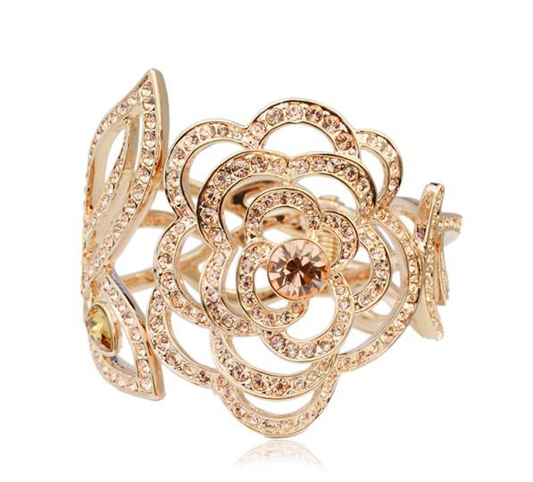 2017 Rhinestone Bracelet Alloy Plated Rose Gold Rose Rhinestone