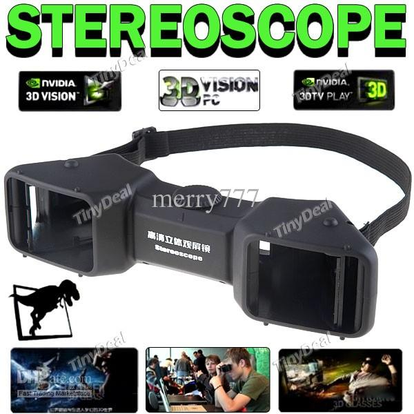Multiple Media Compatible 3d Stereo Stereoscope Viewer