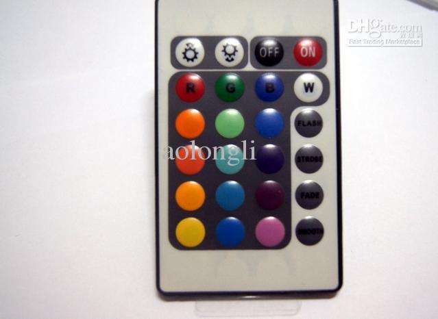- 12V 6A 24Key IR Controller Remote Controller FOR 3528 5050 SMD RGB LED Strip Light
