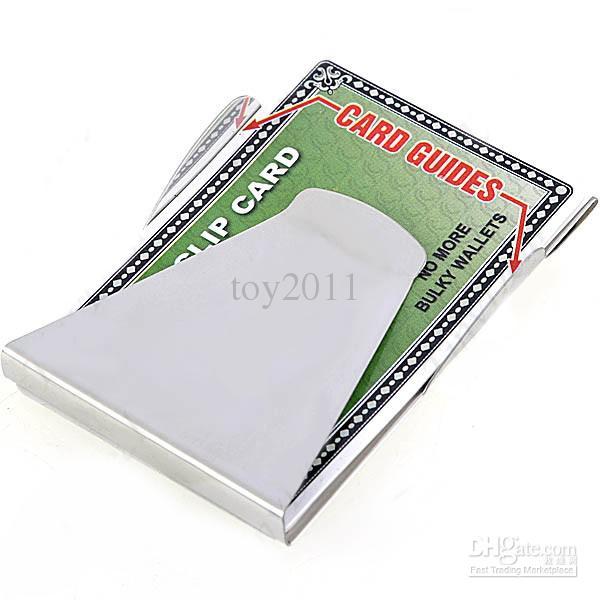 Portefeuille à la mode Slip Clip, titulaire de la carte, Double Sided Money Clip Organisateur de stockage haute qualité