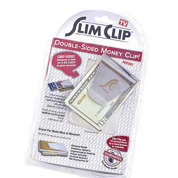 Portefeuille en acier inoxydable, porte-cartes, organisateur de stockage de pince à billets à double face de haute qualité
