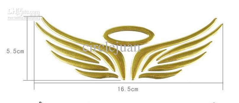 도매 3D PVC 천사 날개 자동차 스티커 데칼 엠블럼 배지 자동차 스타일링