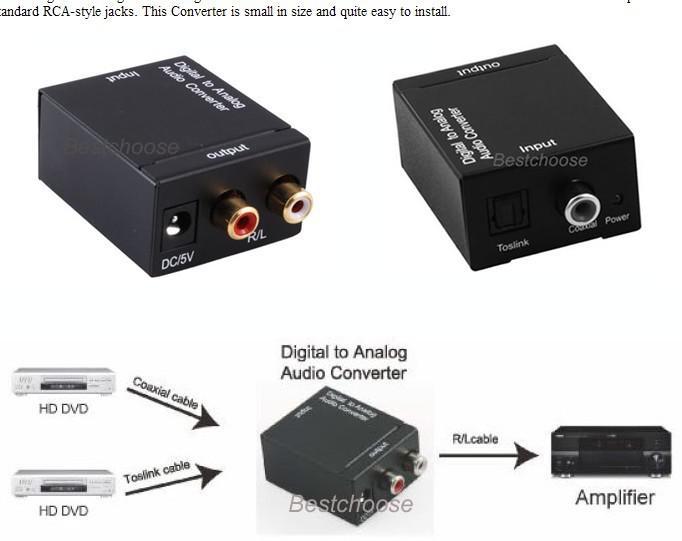 Coax Optical Toslink Digital To Analog Audio Converter Buy My Rhdhgate: Optical Audio Converter At Elf-jo.com