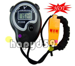 Wholesale Electronic Field - electronic chronograph digital stopwatch track and field stopwatch free whistle