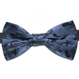 Wholesale Jacquard Purple Paisley Necktie - Floral tie knots jacquard bowties men's bow tie new bow ties neckties men's ties polyester bowties