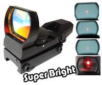 yeşil kırmızı nokta kapsamı lazeri toptan satış-33mm Metal Taktik 4-Reticle Yeşil / kırmızı Nokta Lazer Sight Kapsam Bağları ile